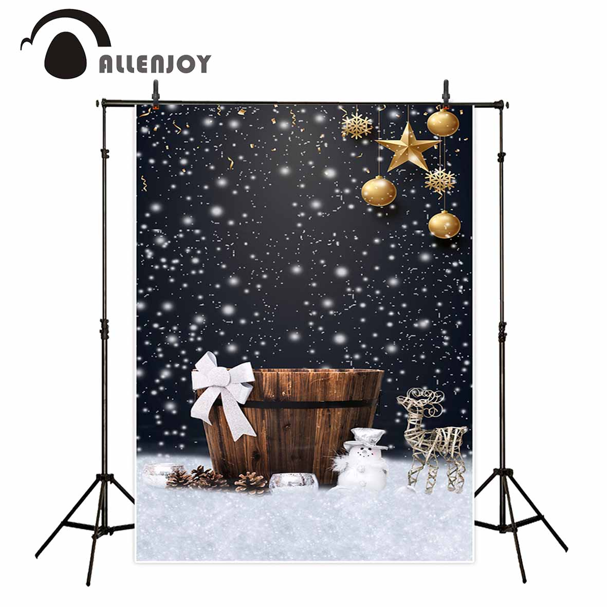Allenjoy photo backdrop Christmas baby shower bokeh sow winter Tub background photocall customize portrait shooting allenjoy christmas photography backdrop wooden fireplace xmas sock gift children s photocall photographic customize festive