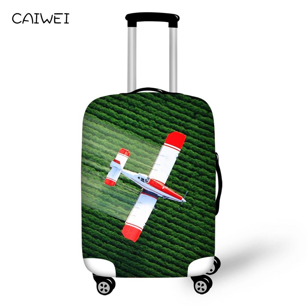 Aircraft print Elastic Thick Luggage Cover for Trunk Case Apply to 18-30 Suitcase,Suitcase Protective Cover Travel Accessor