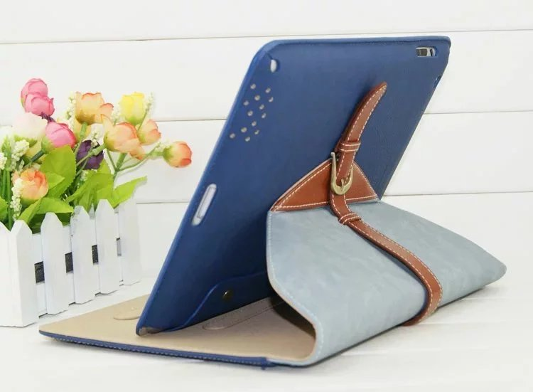 Fashion PU Leather Case Stand Cover for iPad 2/3/4 Case Cover Wake up/sleep 360 rotating Tablet Cover Case+Screen Film+Gifts