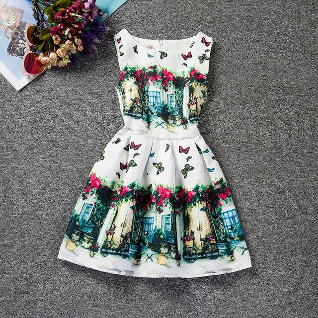 Vintage Niñas Adolescentes Vestidos De Estampado Floral Vestido De