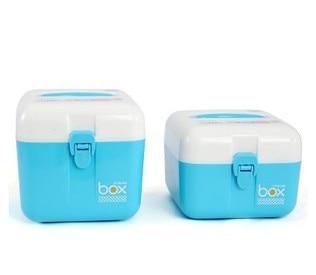 Creative Desktop storage box with a handle lock style storage box cosmetic finishing debris box storage box