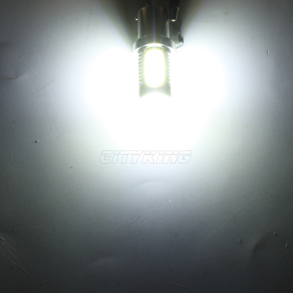 ; набор из 10 шт./лот BA15S 1156 светодиодный Автомобильный светодиодный задний фонарь, 1156 7,5 Вт высокой мощности Мощность светодиодный Поворотная сигнальная лампа, обратный свет лампы