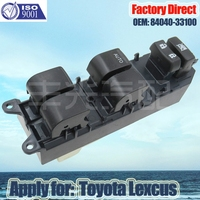 Factory Direct 15Pins New Electric Auto Power Window Master Control Switch Apply for Toyota Lexcus LHD 84040 33100