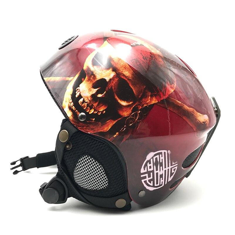 15% Cool crâne conception enfants ski Snowboard casque pour garçons filles haute qualité coquille dure Snowboard casques vente CE