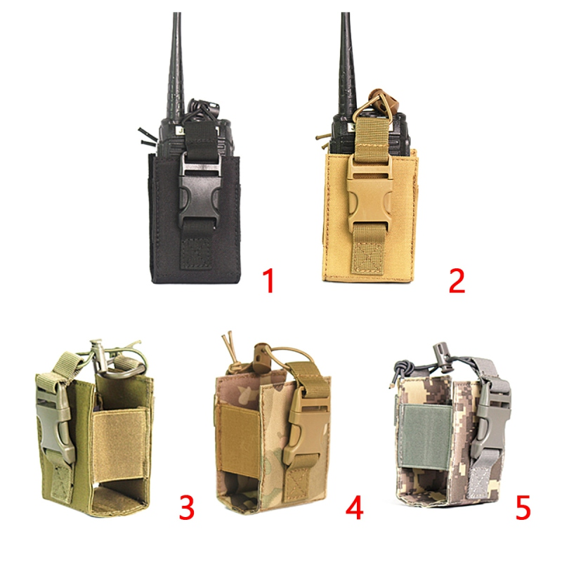 Tactics Molle Walkie Talkie Bag Outdoor Sports  Nylon Portable Waterproof Durable Two-Way Walkie-Talkie Protective Cover