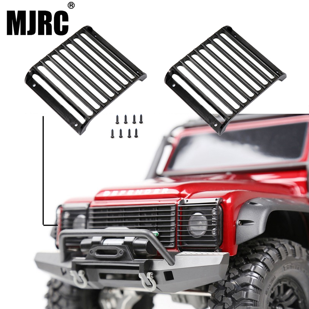 MJRC 2Pcs TRX4 Metal Front Lamp Guards Headlight Cover Guard Grille For 1/10 RC Crawler Car Traxxas TRX-4
