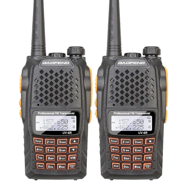 2PCS/Lot Baofeng UV-6R Intercom Professional CB Radio Dual Band 128CH LCD Display Wireless Baofeng UV6R portable 2 Way Radio