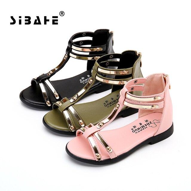 Девушки сандалии женщин дети мальчики сандалии copodenieve кожа дети сандалии для девочек летней обуви chaussures enfant