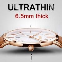 OLEVS Ultrathin Dial Business Men Watches Top Brand Luxury Leather Quartz Watch Male Clocks Waterproof Man