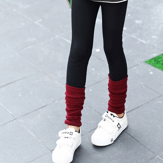 2-6T Baby Kids Childrens Pile Patch Solid Leggings for Girls Pants Girls Legging Baby Girl Leggings C14