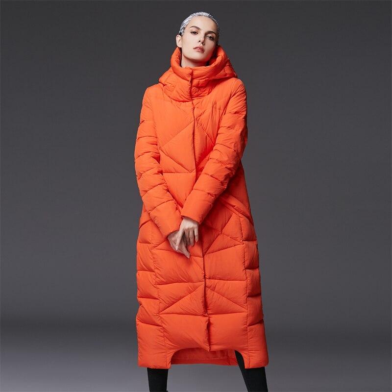 Parkas Grande D'hiver Blanc Avec Femmes Extra 2016 Ample Arrivée Veste Chaude Nouvelle Matelassé Capuche Taille Bleu Longue orange Manteau QtrdhsC