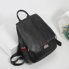 High Quality New Fashion Black Red Brown Green Genuine Leather Womens Backpack Real Skin Female Girl Travel Bags