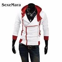חדש 2017 Assassin Creed מזדמנים אביב Slim קרדיגן נים סווטשירט מוצרי הלבשה תחתונה מעילי גברים, גודל M-6XL