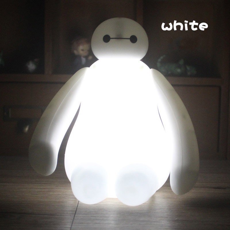 FENGLAIYI New Hero 6 Baymax Cute White RGB Rechargeable USB LED Night Light Home Decoration Birthday / Christmas Gifts Lamp Kids