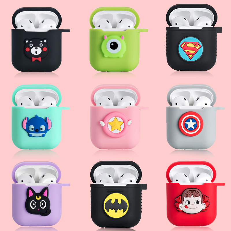 OnePlant Cute Cartoon Stitch Minnie Soft Silicone Bluetooth Wireless Earphone Case For Apple AirPods Marvel Kitten Headset Cover