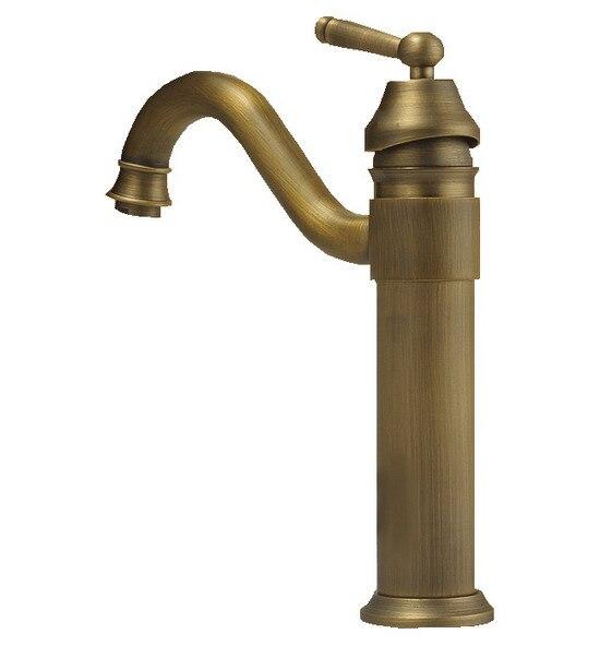 Vintage Antique Brass Single Handle Swivel Spout Bathroom Vessel Sink Basin Faucet Mixer Tap Cnf018Vintage Antique Brass Single Handle Swivel Spout Bathroom Vessel Sink Basin Faucet Mixer Tap Cnf018