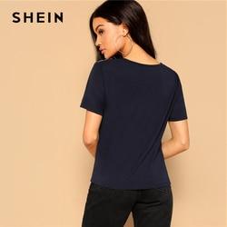 SHEIN Retro Multicolor Scarf Print Mixed Media Top Round Neck Short Sleeve Tee Tshirt Women Summer Streetwear Vintage T-shirts 3