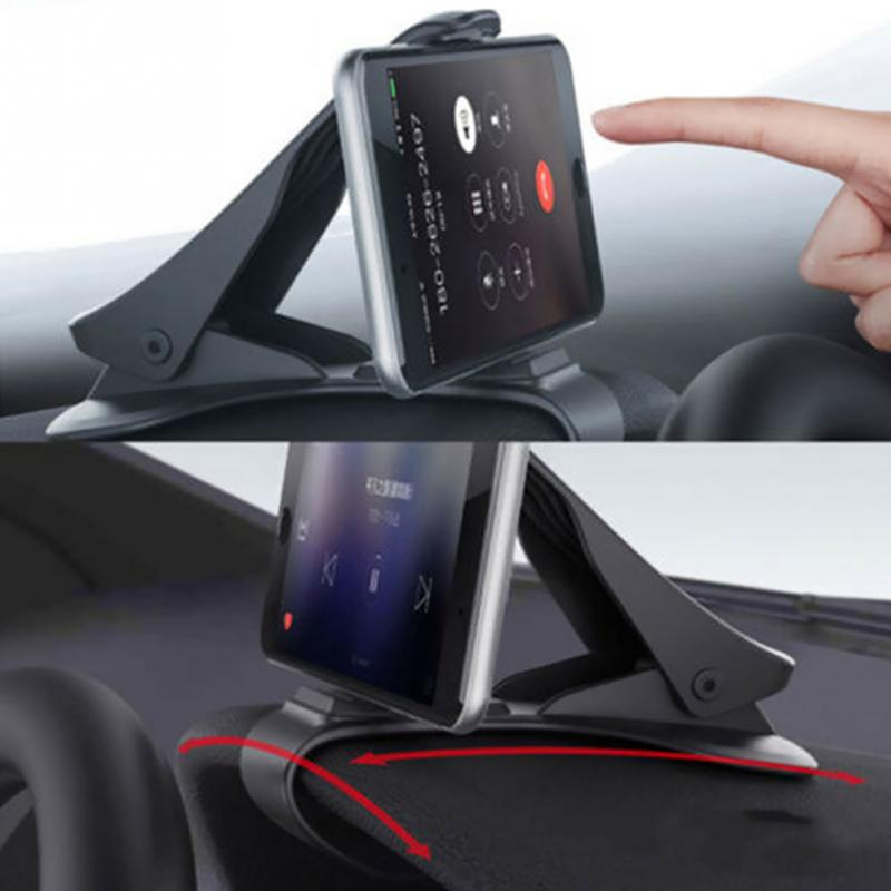 Car Phone Holder Clip HUD Design Dashboard Adjustable Mount For iPhone Galaxy Mobile phone PDA / MP4