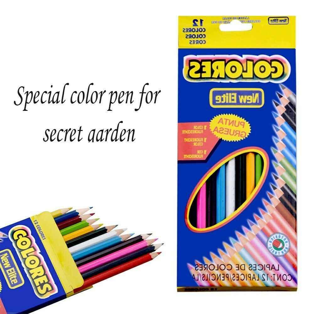 Lápiz de color de madera de 12 piezas para libro de colorear de jardín secreto pintura no tóxica respetuosa con el medio ambiente TTHGOS1420