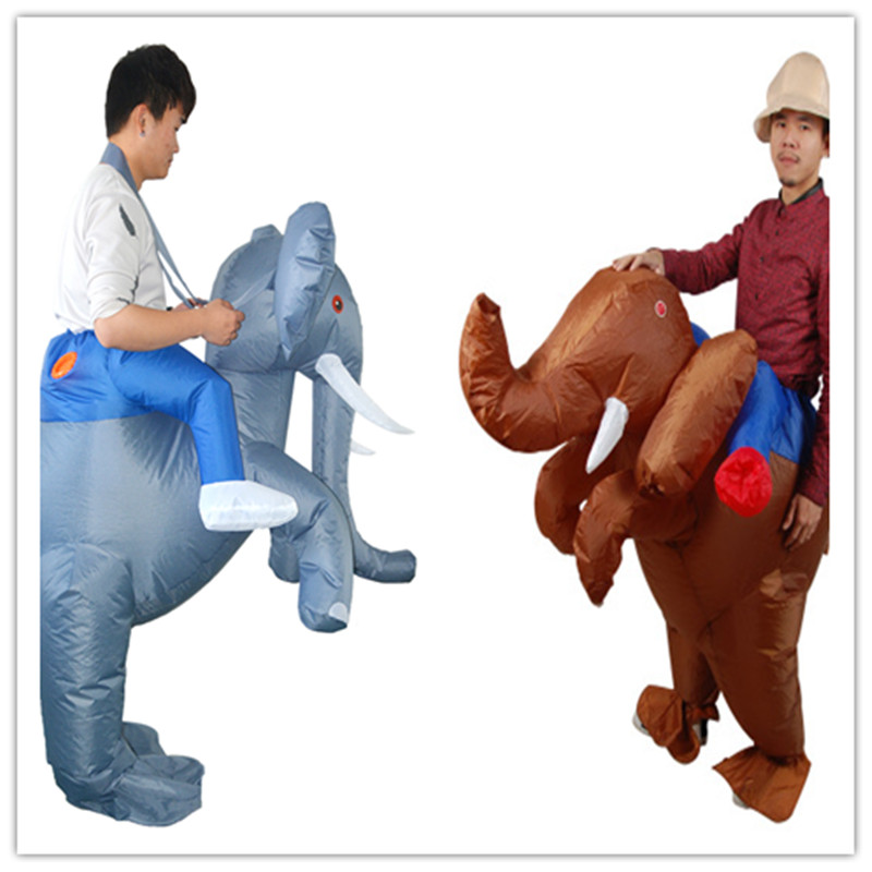 Adult Funny Inflatable Animal Elephant Fancy Dress Costume Outfit elephant Mascot Costume Halloween Purim Stag