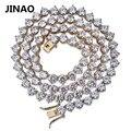 Мужская цепь JINAO  в стиле хип-хоп  с 3 зубцами  4 мм/6 мм  Серебряная/Золотая