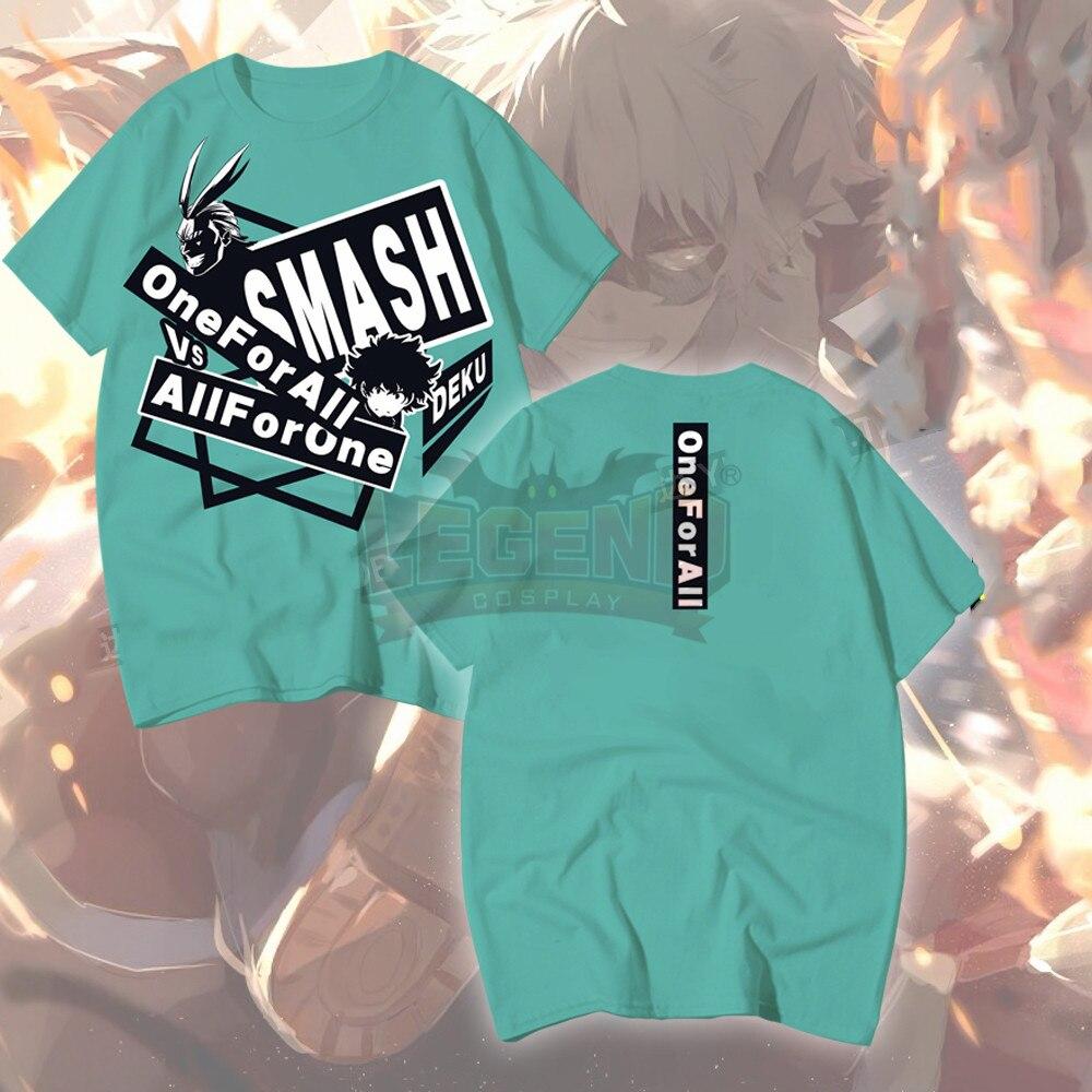 Anime My Hero Academia Boku no Hero Akademia Izuku Midoriya Shoto Todoroki Bakugou Katsuki shirt t shirt cosplay printed Tees