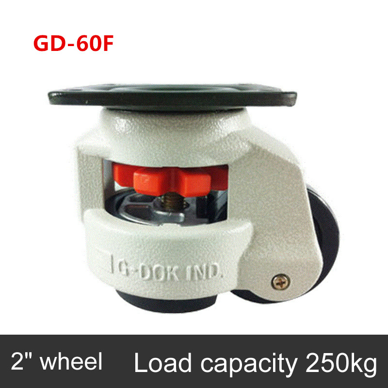 Level adjustment wheel/Casters,<font><b>GD</b></font>-<font><b>60F</b></font> flat support, forHeavy equipment ,Industrial casters image