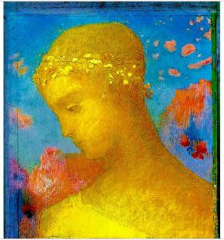 Hand Painted Abstract Wall Art Portrait Oil Painting on Canvas Beatrice by Odilon Redon Oil Reproductions High Quality