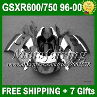 Зеленый белый + зализа для SUZUKI GSXR 600 750 96 97 98 99 00 SRAD L371 GSX R600 R750 1996 1997 1998 1999 2000 новый блеск для губ серый