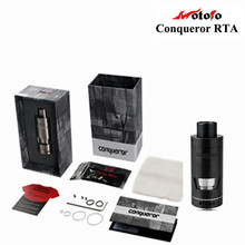 Wotofo Conquistador RTA Atomizador Tanque Rebuildable Dual Postless Cubierta de Control de Flujo de Aire Ajustable Superior-llenar Clearomizer Vaporizador