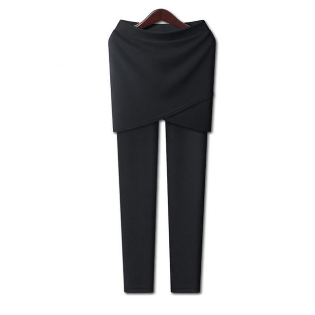 Women's Warm Plus Size Leggings with Skirt 3 colors XL 3XL 5XL