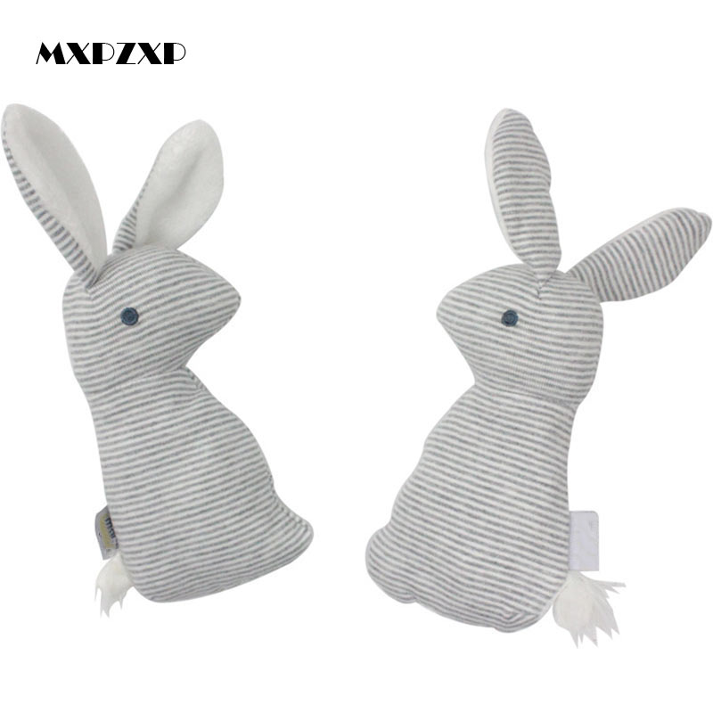 Animal Cute Rabbit Hand Bells Newborn Baby Cute Plush Baby Toy With Bb Sound Toy Gift Baby Rattle Toys Plush Doll 0~12 Months