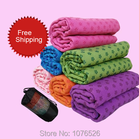 Yoga Mat Blankets Towel Plum Flower Point Sport Fitness Exercise Yoga Mat Towel Yoga Blanket 183x63cm