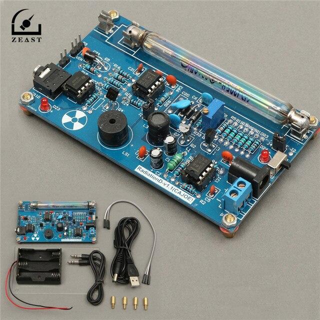 Montado DIY Kit Contador Geiger Radiação Nuclear Detector De Radiação Beta Gamma Ray Construir Estação de Monitoramento