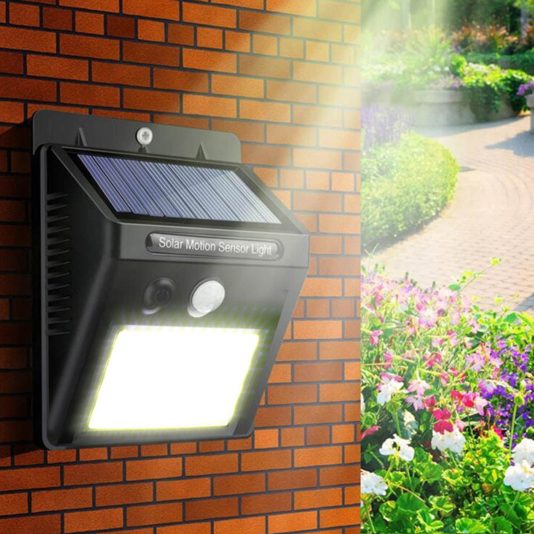 Waterproof 48 LED Solar Power PIR Motion Sensor Wall Light Outdoor Garden Lamp potenco solar led night light outdoor wall garden light pir motion sensor led lamp energy saving emergency lights waterproof