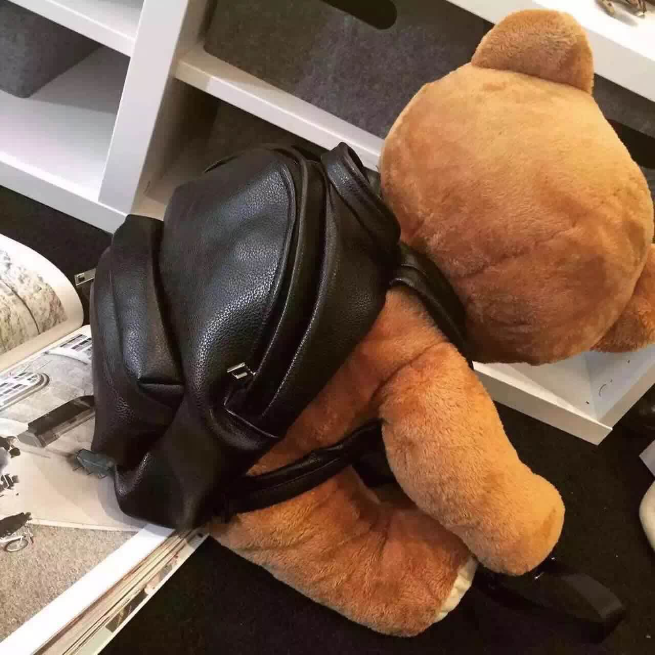 Winter Women/girls Fashion Leather Backpack Plush Teddy Bear Backpack/school Bag Fmous Brand Leisure Small Backpack Bag #4