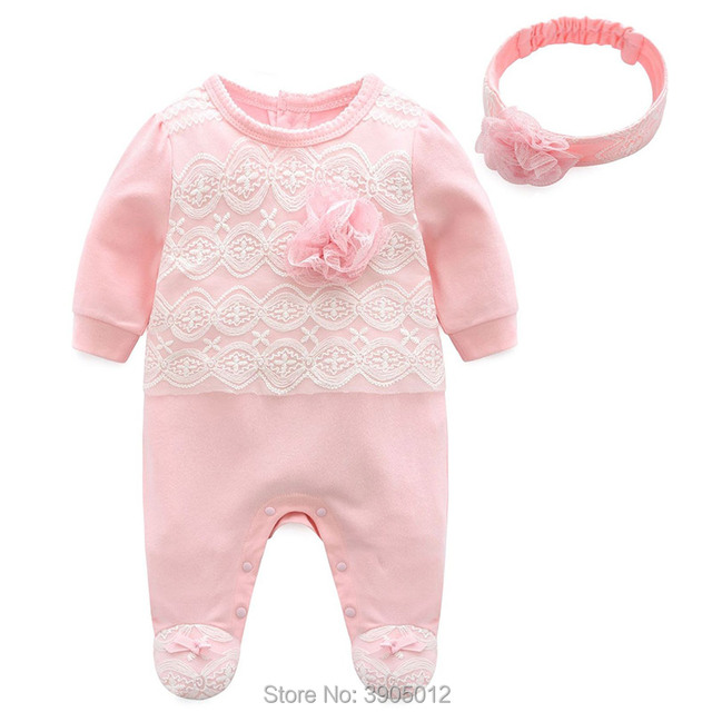 2018 New Infantil Four Or Five Months Baby Girl Spring For Onesies Dress 0 1  Year
