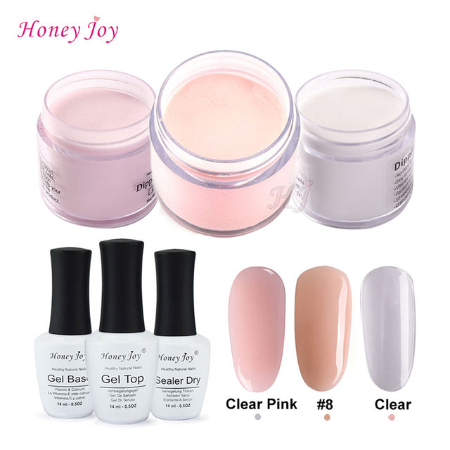 4 in 1 Tool Kits 28g/Box Nude Pink Dipping Powder Without Lamp Cure ...