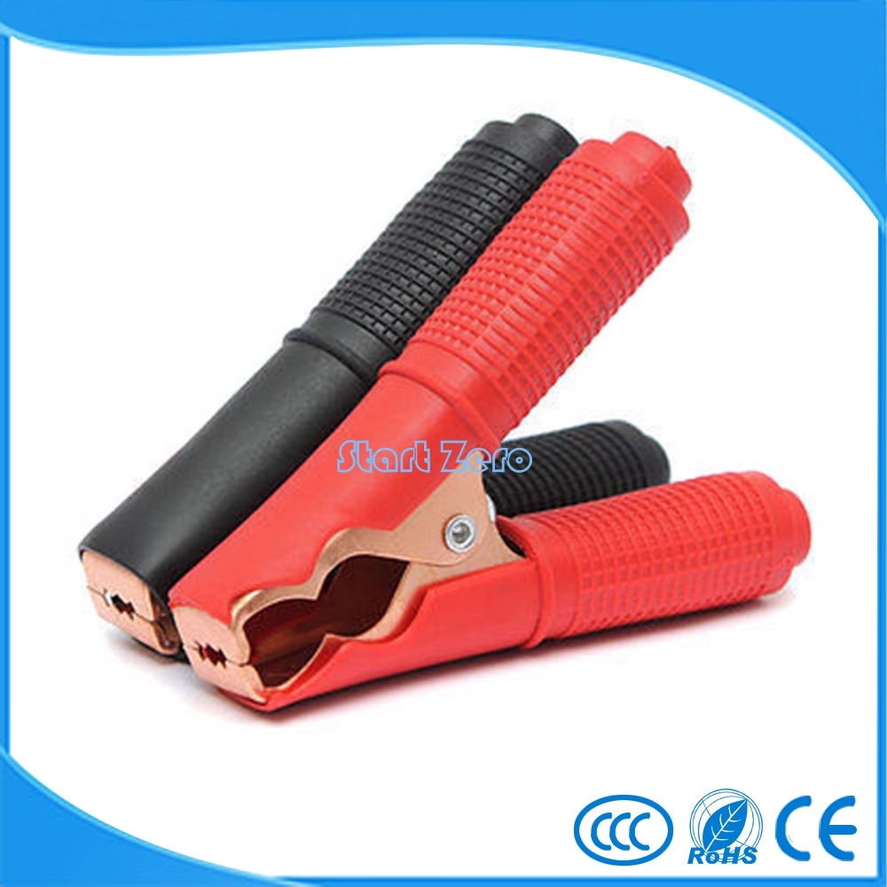 10Pcs Metal Car Battery Clips Crocodile Alligator Test Clamps 100A 90mm Red&Black 5sets car battery test lead clip crocodile alligator clamps 50a 80mm tsus