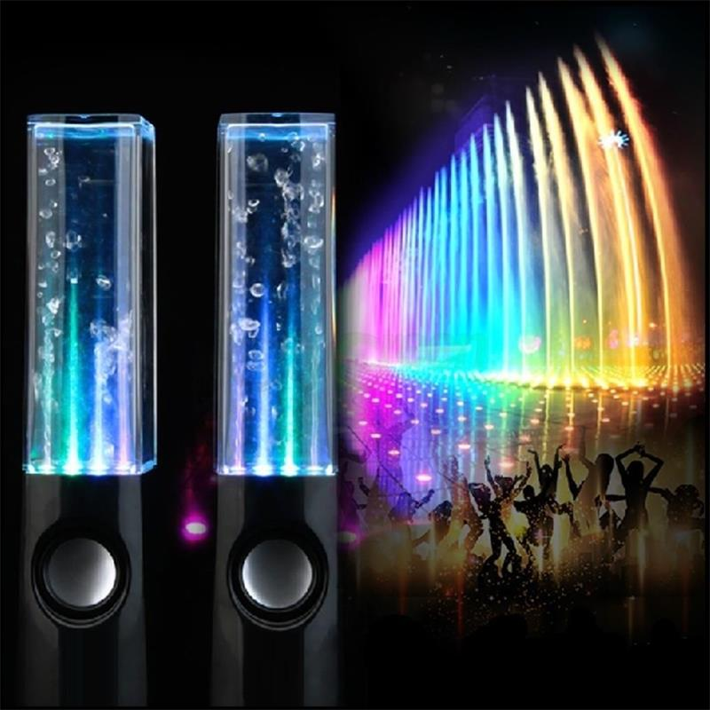 Creative Decorative LED Dancing Water Speakers Music Fountain Light For IPhone IPad Computer Laptop Home Office
