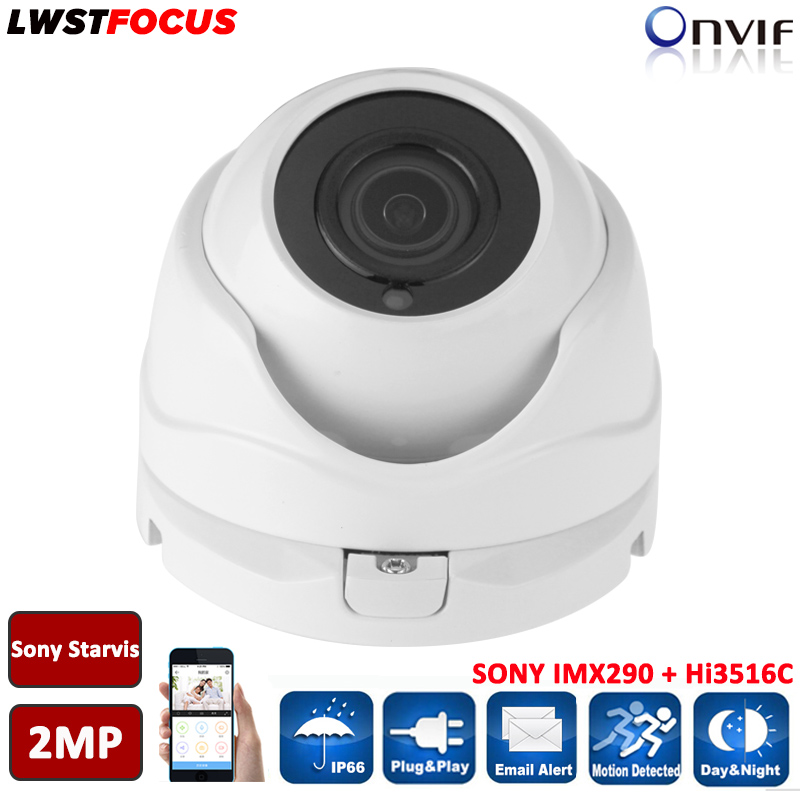 H.264/265 Sony Starvis 2MP IP Camera POE ONVIF 1080P Securiy Outdoor Dome Support Phone Android IOS P2P camera seguranca 5mp ip bullet camera h 264 h 265 compression 3 6mm fixed hd lens support poe p2p onvif