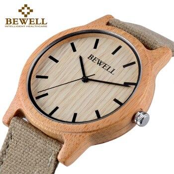 BEWELL Bamboo Wood Watch Luxury Brand Analog Digital Quartz Men Women Dropshipping Ladies Watches Unique Clock 134A
