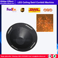 DJ etapa efecto especial papel de color LED remolino flotante techo confeti soplador máquina disco bar LED confeti volando Tirador