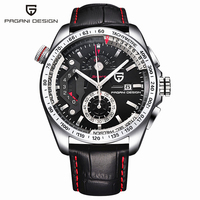 2017 Pagani Design leather Quartz Watches Men Sports Calendar Waterproof Stainless Steel Outdoor Clock relogio masculino