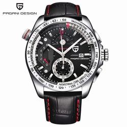 2017 Pagani Design leather Quartz Watches Men Sports Calendar Waterproof Stainless Steel Outdoor Clock relogio masculino