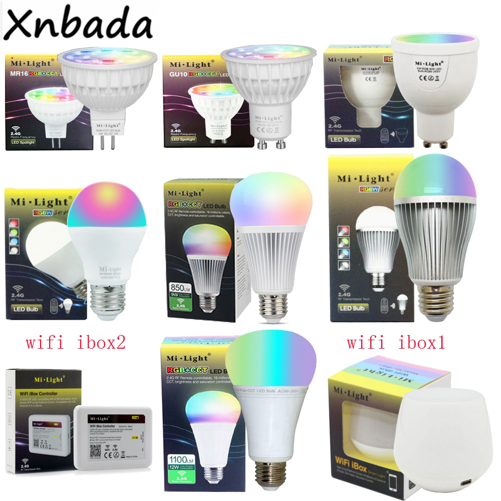 Milight Dimmable Led Bulb 4W 5W 6W 9W 12W MR16 GU10 E27 RGBW RGBWW RGB+CCT Led Lamps 2 in 1 rainbow comb volume hair brush hairdressing mirror tool travel household necessity