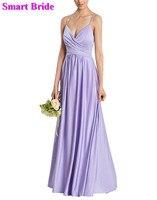 Шифоновое платье подружки невесты A Line Плиссированное свадебное платье с корсетом на спине платья для гостей простые уникальные платья BD74