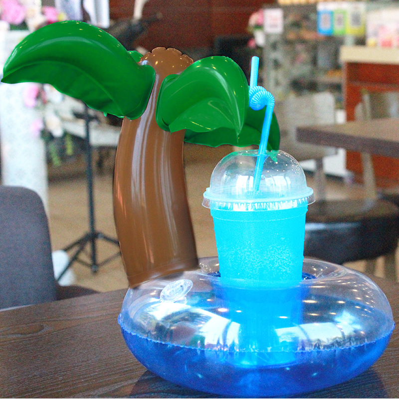 5 stücke Aufblasbare untersetzer palme tasse kokospalme ...