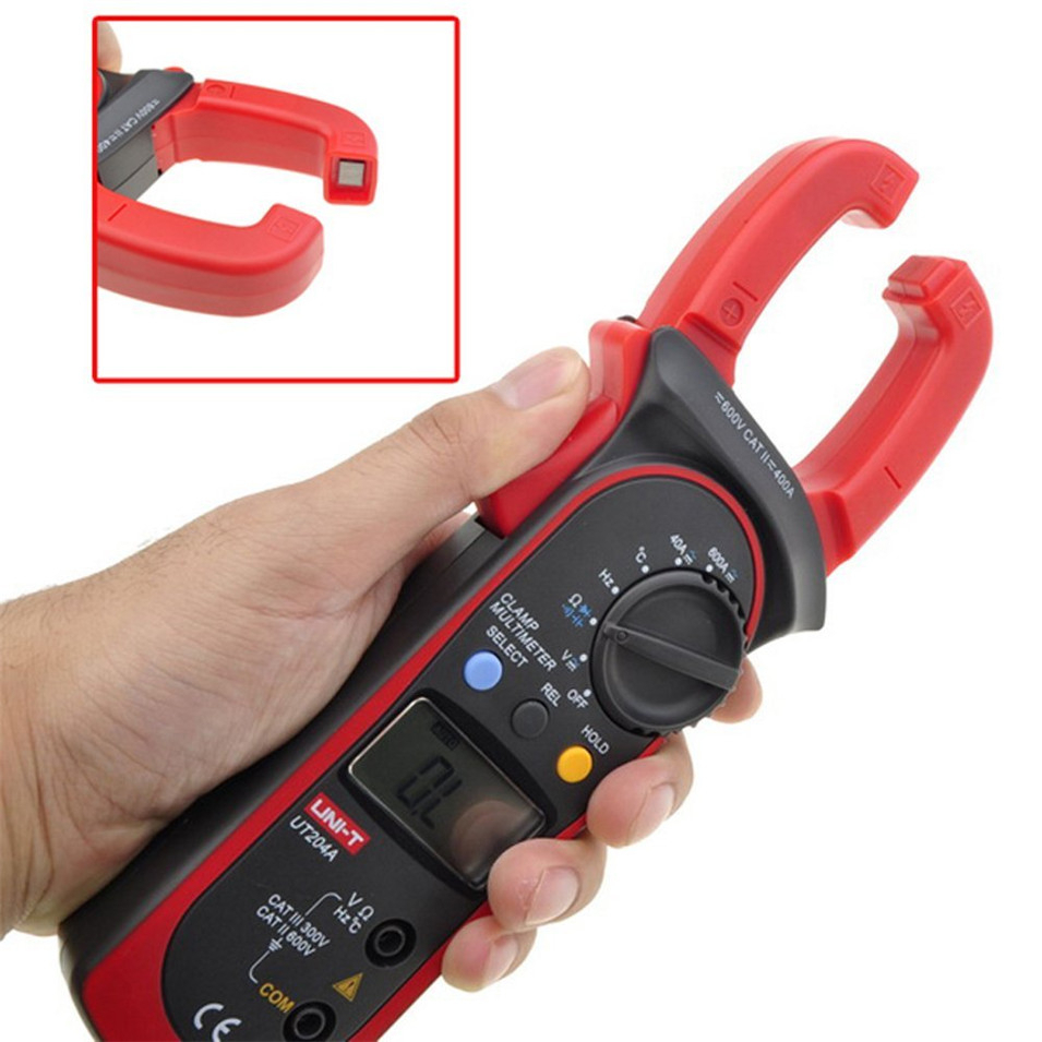 UNI-T UT204A Digital Clamp Meter Voltage AC DC Temperature Capacitor 600A Current Diode Auto Range Multimeter цена