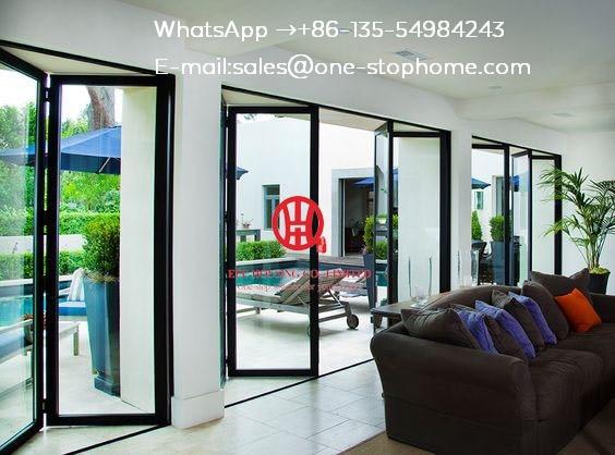 Glass Panel Aluminum Folding Door/ Bifold Door,Sound Reduction Aluminum Bi-folding Door,Australian Standards Soundproof Door